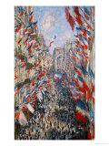 La Rue Montorgeuil, Paris, During the Celebrations of June 30, 1878 Impression giclée par Claude Monet