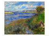 La Seine a Champrosay, Banks of the Seine River at Champrosay, 1876 Giclee Print by Pierre-Auguste Renoir