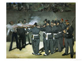 Oil Sketch for the Execution of Emperor Maximilian, 1867 Giclee Print by Édouard Manet