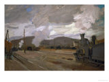 Argenteuil Railway Station, 1872 Giclee Print by Claude Monet