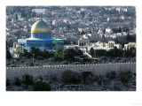Jerusalem, Israel, View from the Mount of Olives, Dome of the Rock in the Center Giclee Print