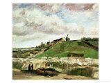 Quarry on Montmartre Reproduction procédé giclée par Vincent van Gogh