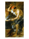 Vulcan Forging the Lightning of Jupiter, Painted for the Torre De La Parada Giclee Print by Peter Paul Rubens