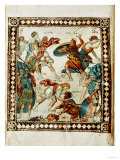 David and Goliath, from the Ms Psalter of Paris Giclee Print