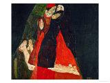 Cardinal and Nun (Liebkosung), 1912 Giclée-tryk af Egon Schiele