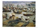 Summer Evening on the Alster-River, Hamburg, Germany, 1909 Giclee Print by Max Liebermann