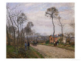 The Road to Louveciennes, 1870 Giclee Print by Camille Pissarro