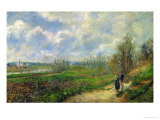 The Cabbage Garden Near Pontoise, 1878 Giclee Print by Camille Pissarro