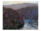Creuse Valley, Evening, 1889 Giclee Print by Claude Monet