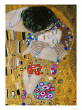 The Kiss, Der Kuss, Close-Up of Heads Giclée-tryk af Gustav Klimt