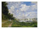 The Docks of Argenteuil (Le Bassin D'Argenteuil), Around 1872 Giclée-tryk af Claude Monet