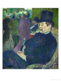 Portrait of M, Delaporte in the Jardin De Paris (A Outdoor Cabaret), Gouache on Paper on Wood, 1893 Giclee Print by Henri de Toulouse-Lautrec
