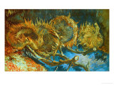 Four Cut Sunflowers, c.1887 Giclée-Druck von Vincent van Gogh