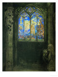 Le Vitrail, Stained Glass Window, 1904, Gouache Giclee Print by Odilon Redon