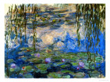 Nymphéas, 1916-1919 Reproduction procédé giclée par Claude Monet