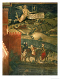 A Hunting Party Giclee Print by Ambrogio Lorenzetti
