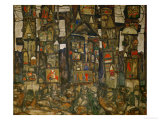 Waldandacht (Shrines in the Wood), 1915 Giclee-vedos tekijn Egon Schiele