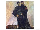 Eremiten (Hermits) Egon Schiele and Gustav Klimt Giclee Print by Egon Schiele