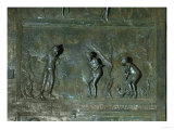 God Condemns Adam and Eve after the Fall, Panel from the Bronze Door, Early 11th Century Giclee Print