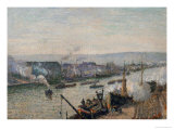 The Port of Rouen, 1896 Giclee Print by Camille Pissarro