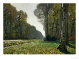 The Chailly Highway (La Pave De Chailly, Foret De Fontainebleau), 1865 Giclee Print by Claude Monet