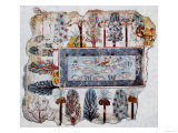 A Garden Pool; Fragment of a Wall Painting from the Tomb of Nebamun Giclee Print