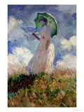 Woman with Umbrella Turned Towards the Left, 1886 Giclee Print by Claude Monet