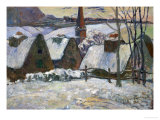 Breton Village Under Snow, 1894 Giclee Print by Paul Gauguin