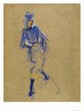 Henri de Toulouse-Lautrec - Jane Avril Dancing, circa 1891-1892 - Giclee Baskı