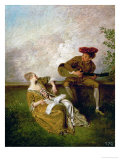 The Singing Lesson Giclee Print by Jean Antoine Watteau