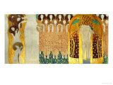 The Final Chorus of Beethoven's 9th Symphony Giclee-trykk av Gustav Klimt