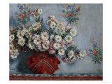 Crisantemos, 1878 Lámina giclée por Claude Monet