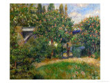 The Railway Bridge at Chatou, 1881 Giclee Print by Pierre-Auguste Renoir