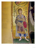 Saint Demetrios (Soldier Saint), Mosaic from the Arch Above Philopation, West Side Giclee Print