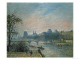 Paris: Seine River and Louvre Palace, 1903 Giclee Print by Camille Pissarro