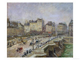 Pont-Neuf, Paris, Snow, Second Series, 1902 Giclee Print by Camille Pissarro