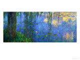 Waterlilies, Morning with Willows Giclee Print by Claude Monet