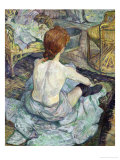 La Toilette, 1896 Lmina gicle por Henri de Toulouse-Lautrec