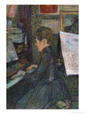 Mademoiselle, Dihau at the Piano, 1890 Giclee Print by Henri de Toulouse-Lautrec