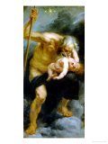 God Saturn Devouring His Son, Painted for the Torre De La Parada Reproduction proc&#233;d&#233; gicl&#233;e par Peter Paul Rubens