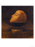 Head of a Martyr in a Bowl Giclee Print by Odilon Redon