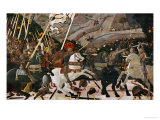 The Battle of San Romano in 1432 Giclée-tryk af Paolo Uccello