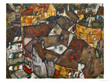 A Village Reproduction proc&#233;d&#233; gicl&#233;e par Egon Schiele