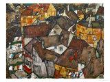 Egon Schiele - A Village Digitálně vytištěná reprodukce