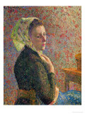Woman with a Green Scarf, 1893 Giclee Print by Camille Pissarro