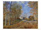 Road at the Forest Fringe (Forest of Fontainebleau Near Moret-Su-Loing), 1883 Giclee Print by Alfred Sisley