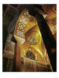 View of the Mosaic of the Hermit Hosios Loukas and Vaulted Ceiling Above Seen Across an Arch Giclee Print