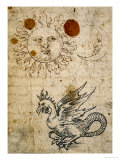 The Sun, The Moon and a Basilisk, Around 1512 Giclee Print by Albrecht Dürer