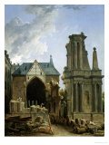 The Demolition of the Church of the Feuillants, 1805 Giclee Print by Hubert Robert