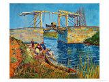 Vincent van Gogh - The Drawbridge at Arles with a Group of Washerwomen, c.1888 Digitálně vytištěná reprodukce